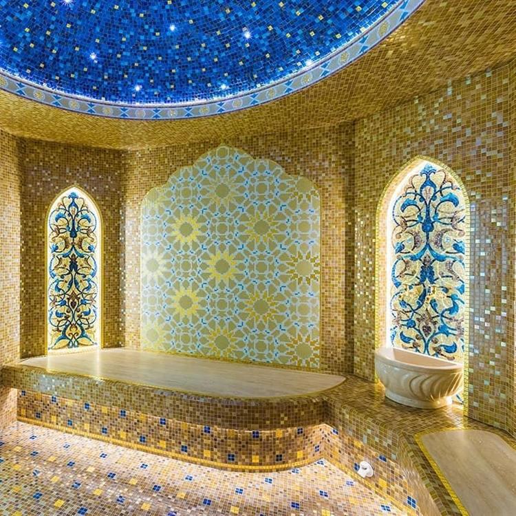 Хаммам из стеклянной мозаики